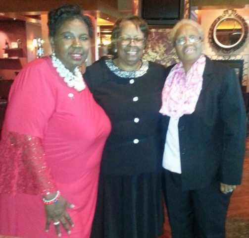 Left to right: Norma Rogers, Sandra Austin-Benn and Sandra Pritchard at Bally's Hotel and Casino in Atlantic City Norma farewell party as President of New Jersey State Nursing Association (NJSNA)