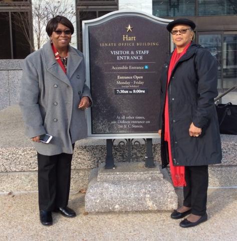 Sheila Penn and Gloria Bivins at Capitol Hill